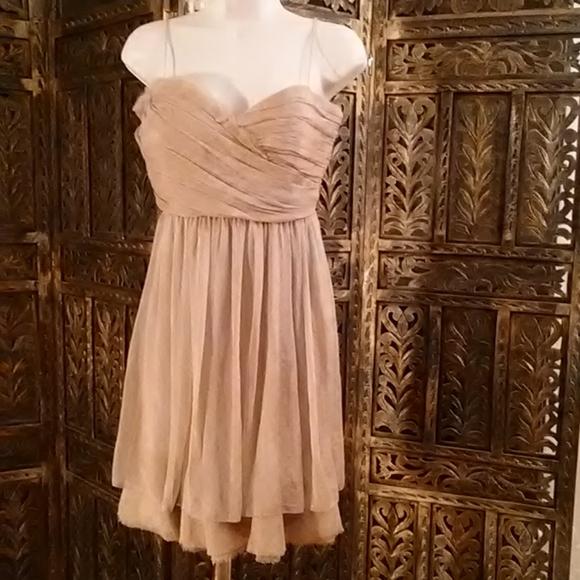 BCBGMaxAzria Dresses & Skirts - Tan / cream colored dress, size 6